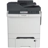 Lexmark CX410DTE Laser Multifunction Printer - Color - Plain Paper Print - Desktop - Copier/Fax/Printer/Scanner - 32 (28D0600)