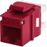 Wirewerks KeyWerks Cat6 Module, Back Termination, Red