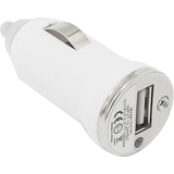 4XEM Universal USB Car Charger For iPhone/iPod/USB Devices (White) - 5 V DC Output Voltage - 1 A Output Current