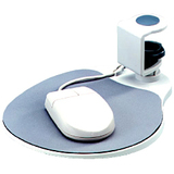 Aidata Under Desk Swivel Ergonomic Mouse Platform White Via Ergoguys