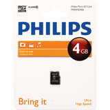 Philips Micro SD cards FM04MD45B 4GB Class 10