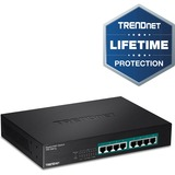 TRENDnet 8-Port Gigabit GREENnet PoE+ Switch - 8 Network - Twisted Pair - 2 Layer Supported - Rack-mountable - Lifeti (TPE-TG81G)