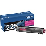 Brother Genuine TN225M High Yield Magenta Toner Cartridge - Laser - High Yield - 2200 Pages - Magenta - 1 Each (TN225M)