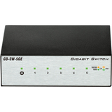 D-Link GO-SW-5GE 5-Port Gigabit Unmanaged Metal Desktop Switch - 5 Network - Twisted Pair - 2 Layer Supported - Deskt (GO-SW-5GE)