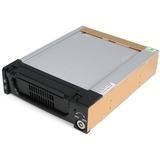 StarTech.com Black Aluminum 5.25in Rugged SATA Hard Drive Mobile Rack Drawer - 3.5 - Internal - Serial ATA - Black (DRW150SATBK)