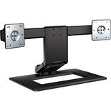 HP Adjustable Dual Monitor Stand - Up to 24in Screen Support - 4.54 kg Load Capacity - Flat Panel Display Type Suppor (AW664UT#ABA)