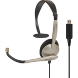 Koss CS95USB Headset - Mono - USB - Wired - 32 Ohm - 30 Hz - 16 kHz - Over-the-head - Monaural - Supra-aural - 8 ft C (184060)