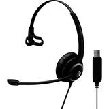 Sennheiser SC 230 USB Headset - Mono - Black - USB - Wired - 150 Hz - 6.80 kHz - Over-the-head - Monaural - Supra-aur (504403)