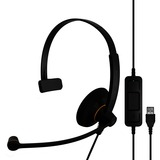 Sennheiser SC 30 USB ML Headset - Mono - Black, Orange - USB - Wired - 60 Hz - 16 kHz - Over-the-head - Monaural - Su (504546)