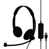 Sennheiser SC 60 USB ML Headset - Stereo - Black, Orange - USB - Wired - 60 Hz - 16 kHz - Over-the-head - Binaural - (504547)