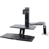 """Ergotron Display Stand - Up to 27"""" Screen Support - 25 lb Load Capacity - Flat Panel Display Type Supported - 10.6"""" Height x 35.8"""" Width x 36"""" Depth - Desktop - Polished - Aluminum - Black"""