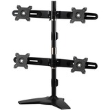 Amer Mounts Stand Based Quad Monitor Mount for four 15IN-24IN LCD/LED Flat Panel Screens - Supports up to 17.6lb moni (AMR4S)