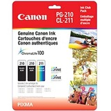 Canon PG-210 & CL-211 Ink Twin Club Pack