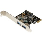 StarTech.com 2 Port PCI Express PCIe SuperSpeed USB 3.0 Controller Card w/ SATA Power - PCI Express x1 - Plug-in Card (PEXUSB3S23)