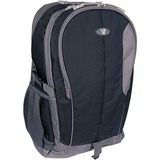 "V7 Odyssey Carrying Case (Backpack) for 15.6"" Notebook - Black, Gray - Water Resistant - Nylon - Shoulder Strap, Chest Strap, Handle"