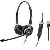 Sennheiser Century SC 660 USB ML Headset - Stereo - Black, Silver - USB - Wired - 50 Hz - 18 kHz - Over-the-head - Bi (504553)