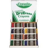Crayola Crayon - Red, Blue, Green, Yellow, Orange, Violet, Black, Brown Wax - 96 / Box