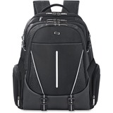 """Solo Active Carrying Case (Backpack) for 17.3"""" Notebook, Tablet, Digital Text Reader, iPad - Black, White"""