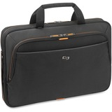 "Solo Carrying Case (Briefcase) for 15.6"" Notebook - Orange, Black"