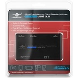 Vantec All-In-One Memory Card Reader/Writer SuperSpeed USB 3.0 - CompactFlash Type I, CompactFlash Type II, microSD, (UGT-CR513-BK)