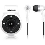 NoiseHush Clip On Bluetooth Stereo Headset White Via Ergoguys