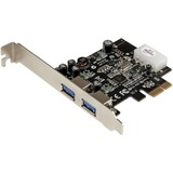 StarTech.com 2 Port PCI Express (PCIe) SuperSpeed USB 3.0 Card Adapter with UASP - LP4 Power - PCI Express x1 - Plug- (PEXUSB3S25)