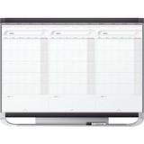 Quartet® Prestige® 2 Sliding Three Month Calendar Board, 3' x 2', Total Erase® Surface