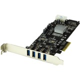 StarTech.com 4 Port PCI Express (PCIe) SuperSpeed USB 3.0 Card Adapter w/ 2 Dedicated 5Gbps Channels - UASP - SATA / (PEXUSB3S42V)