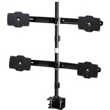 """Amer Mounts Clamp Based Quad Monitor Mount. Up to 32"""", 26.5lb monitors"""