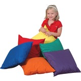 Children's Factory Foam-filled Square Floor Pillow