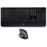 Logitech MX800 Combo Wireless Keyboard/Mouse - USB Wireless RF Keyboard - English, French - USB Wireless RF Mouse - L (920-006237)
