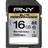 PNY Elite Performance 16 GB SDHC - Class 10/UHS-I - 90 MB/s Read - 1 Card - Retail