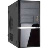 """In Win Z638 Mini Tower Chassis - Mini-tower - Black - Steel - 6 x Bay - 1 x 350 W - Power Supply Installed - Micro ATX, Mini ITX Motherboard Supported - 2 x Fan(s) Supported - 2 x External 5.25"""" Bay - 2 x External 3.5"""" Bay - 1 x Internal 3.5"""" Bay - 1"""