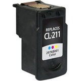 Clover Technologies Color Ink Cartridge with Ink Monitoring Technology for Canon CL-211