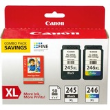"Canon PG-245/CL-246 XL Combo Ink Pack With Photo Paper Glossy (50 Sheets, 4""x6"")"