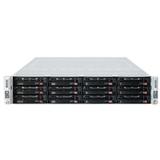 Supermicro 6027TR-D71RF+ 2U Twin Xeon E5 4XLGA2011 C602 RDIMM 2MPCIE 12SAS 4GBE IPMI 1280W RE