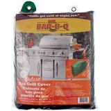 Mr. Bar.B.Q Deluxe Large Gas Grill Cover - Supports Grill - Hook & Loop Closure, Lead-free - Flannel, Vinyl Material - Hunter Green Color