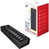 Vantec 9 Port USB 3.0 Aluminum Smart Charging Hub