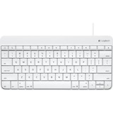 Logitech Wired Keyboard for iPad - Cable Connectivity - Docking Port Interface - Compatible with Tablet