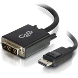 C2G 6ft DisplayPort Male to Single Link DVI-D Male Adapter Cable - Black