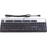 HP Keyboard - Cable Connectivity - Retail - USB Interface - Black, Silver