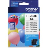 Brother Innobella LC203C Ink Cartridge - Cyan - Inkjet - High Yield - 550 Page - 1 Each