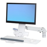 Ergotron StyleView Mounting Arm for Monitor, Keyboard, Bar Code Reader, Mouse - 24IN Screen Support - 29.10 lb Load C (45-266-216)