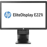 "HP Elite E221i 21.5"" LED LCD Monitor - 16:9 - 8 ms - Adjustable Display Angle - 1920 x 1080 - 250 Nit - 4,000,000:1 - Full HD - DVI - VGA - DisplayPort - USB - 31 W - Black - ENERGY STAR, TCO Certified Edge, EPEAT Gold, TCO Certified Displays"