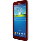 "Samsung Galaxy Tab 3 SM-T210R 8 GB Tablet - 7"" - Plane to Line (PLS) Switching - Wireless LAN - Marvell ARMADA PXA986 1.20 GHz - Garnet Red 