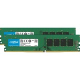 Crucial 16GB Kit (8GBx2) DDR4 PC4-17000 Unbuffered NON-ECC 1.2V - 16 GB (2 x 8 GB) - DDR4 SDRAM - 2133 MHz DDR4-2133/PC4-17000 - 1.20 V - Non-ECC - Unbuffered - 288-pin - DIMM