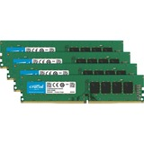 Crucial 32GB DDR4 SDRAM Memory Module - 32 GB (4 x 8 GB) - DDR4 SDRAM - 2133 MHz DDR4-2133/PC4-17000 - 1.20 V - Non-ECC - Unbuffered - 288-pin - DIMM