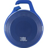 JBL Clip Clip Blue Speaker System - 3.2 W RMS - Portable - Battery Rechargeable - Wireless Speaker(s) - Blue - 160 Hz - 20 kHz - Bluetooth - USB - iPod Supported - Built-in Microphone, Wireless Audio Stream, Rugged Design, Rechargeable Battery, Bluet