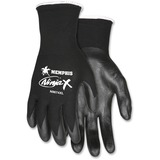 MCR Safety Unique Shell Nylon Safety Gloves - X-Large Size - Nylon, Lycra, Polymer - Black - Anti-bacterial - For Material Handling, Construction, Landscape - 1 Each