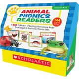 Scholastic Res. Grade K-2 Animal Phonics Reader Book Set Education Printed Book by Liza Charlesworth - English